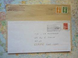 2 Flammes D'oblitération Mécaniques Différentes De Clermont Ferrand Puy De Dome Sur Lettres Entières 1992-1999 - Marcophilie (Lettres)