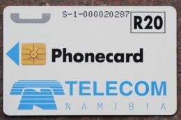 Namibia Demonstration Telefonkarte R20 Nummer S-1-...... Auf Chipseite - Namibie