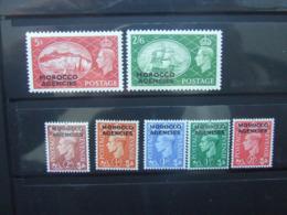 1951 MOROCCO AGENCIES SET - Oficinas En  Marruecos / Tanger : (...-1958
