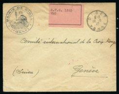 France Lettre Croix-Rouge Affr. Vignette E.F.G. 1323 VMC -  RARE Et TTB Qualité - 1921-1960: Periodo Moderno