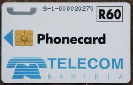 Namibia Demonstration Telefonkarte R60 Nummer S-1-...... Auf Chipseite - Namibie