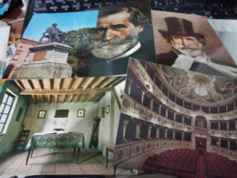 5 CARD  RONCOLE DI BUSSETO PAESE DI G VERDI E VERDI TEATRO  N1965/75  HF968 - Parma