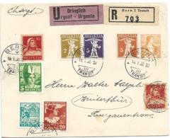"231 - 28 - Entier Postal Privé  Recommandé Urgent ""Philatelisten-Verein Bern 1935"" - Stamped Stationery"