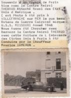 Ancienne Photo ( Années 1940 / 1950 ) Belle Automobile Cadillac Spéciale  De L'ambassadeur Des Etats Unis à Paris - Coches