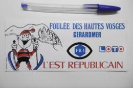 Autocollant Stickers - Foulée Des HAUTES VOSGES à GERARDMER Avec FR3 Le LOTO Et L'EST RÉPUBLICAIN - Aufkleber