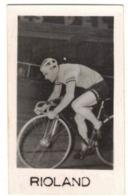 VITRY SPORT CYCLISME PHOTO VERITABLE DU CYCLISTE RIOLAND EQUIPE METROPOLE DUNLOP FORMAT 3,3 X 5,3 Verso Vierge - Cycling