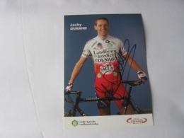 Cyclisme - Autographe - Carte Signée Jacky Durand - Cyclisme