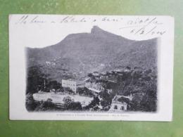 CPA BRESIL O CORCOVADO E O GRANDE HOTEL INTERNACIONAL RIO DE JANEIRO 1904  EXC ETAT - Rio De Janeiro