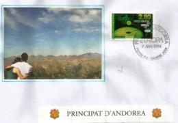 ANDORRA. EUROPA 1994  (Grandes Découvertes Médicales, Virus Du Sida) FDC - Europa-CEPT