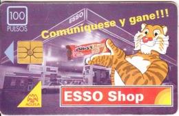 ARGENTINA - Esso, Telecom Argentina Telecard, Chip GEM1, 10/95, Used - Argentinië