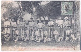 9440 Cochinchine Vietnam Tirailleurs Annamites à  L'exercice  Mail Stamps Indo - Chine - Viêt-Nam
