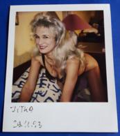 Vintage SEXY PIN-UP GIRL Photo - POLAROID Portrait - Hübsche Junge Frau, Jolie Jeune Femme, Pretty Young Woman [19-853] - Pin-Ups