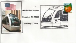 New METRORail Tramway Houston.Texas.Opening 1,January 2004. Lettre - Tramways