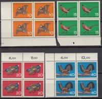 BERLIN  250-253, 4erBlock Z.T. Eckrand, Postfrisch **, Jugend: Jagdbares Federwild 1965 - [5] Berlin