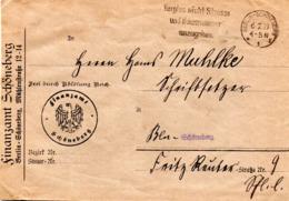 """DR Dienst-Brief """"Frei Durch Ablösung Reich"""" Finanzamt Schöneberg, MWST 6.2.29 BERLIN SCHÖNEBERG - Deutschland"""