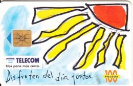 ARGENTINA - Disfruten Del Dia Juntos - Quarter Sun, Telecom Argentina Telecard, Chip GEM1a, 12/95, Used - Argentinië