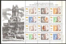 Espagne Spanje Espana 2000 Yvertn° 3254-3260 En Feuillet *** MNH Cote 8,50 Euro Premier Timbre-poste Espagnol - 1931-Aujourd'hui: II. République - ....Juan Carlos I