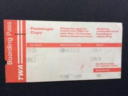 CARTE D'EMBARQUEMENT BOARDING PASS TWA  San Francisco>Londres  ANNÉE 1979 - Instapkaart