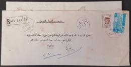 """GE - Lebanon 1961 """"BEYROUTH H"""" Registered Cover With Original Letter Still Inside - Lebanon"""