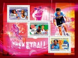 Guinea 2007 MNH - Sports: Basketball - Ping Pong - Cyclism. YT 2867-2869, Mi 4569-4571 - Guinea (1958-...)