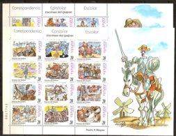 Espagne Spanje Espana 1998 Yvertn° 3132-3155 En Feuillets *** MNH Cote 12,0 Euro Don Quichotte De Le Manche - 1931-Aujourd'hui: II. République - ....Juan Carlos I