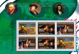 Guinea 2007 MNH - ART - Dutch Painters: Van Gogh, Rembrandt, Vermeer. YT 2981-2983, Mi 4869-4871 - Guinea (1958-...)