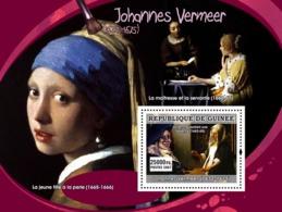 Guinea 2007 MNH - ART - Dutch Painters: Vermeer. YT 587, Mi 4895/BL1289 - Guinea (1958-...)