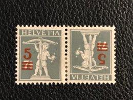 Schweiz Kehrdrucke Zumstein-Nr. K14 * Ungebraucht Mit Falz - Tête-Bêche