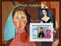 Guinea 2007 MNH - ART - Italian Painters: Amadeo Modigliani. YT 592, Mi 4885/BL1279 - Guinea (1958-...)