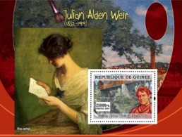 Guinea 2007 MNH - ART - American Impressionists: Julian Alden Weir. YT 596, Mi 4889/BL1283 - Guinea (1958-...)