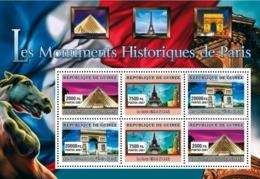 Guinea 2007 MNH - ART - Historical Monuments Of Paris. YT 2999-3001, Mi 4839-4841 - Guinée (1958-...)