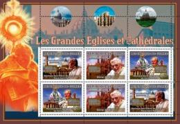 Guinea 2007 MNH - ART - Churches, Pope John Paul II, Pope Benedict XVI. YT 3008-3010, Mi 4827-4829 - Guinea (1958-...)
