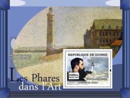 Guinea 2007 MNH - ART - Lighthouses In Art: La Jetee Du Havre. YT 617, Mi 4825/BL1258 - Guinea (1958-...)