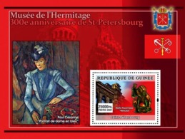 Guinea 2007 MNH - ART - 300th Anniversary St. Petersburg Hermitage Museum: Cezanne. YT 630, Mi 4802/BL1247 - Guinea (1958-...)