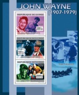 Guinea 2007 MNH - CINEMA: John Wayne. YT 3035-3037, Mi 4965-4967 - Guinea (1958-...)