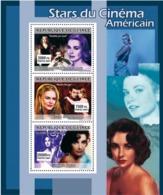 Guinea 2007 MNH - CINEMA: American Stars Females. YT 3053-3055, Mi 4947-4949 - Guinea (1958-...)