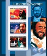 Guinea 2007 MNH - MUSIC: Luciano Pavarotti. YT 3077-3079, Mi 4911-4913 - Guinea (1958-...)