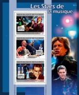Guinea 2007 MNH - MUSIC: Stars Males. YT 3080-3082, Mi 4914-4916 - Guinea (1958-...)