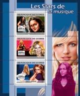 Guinea 2007 MNH - MUSIC: Stars Females. YT 3083-3085, Mi 4920-4922 - Guinea (1958-...)