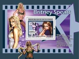 Guinea 2007 MNH - MUSIC: Stars Females: Britney Spears. YT 698, Mi 4943/BL1316 - Guinea (1958-...)