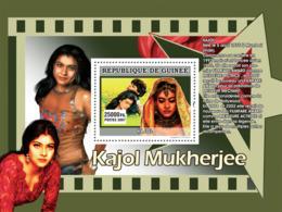 Guinea 2007 MNH - CINEMA: Indian Stars: KAJOL. YT 673, Mi 5014/BL1348 - Guinea (1958-...)