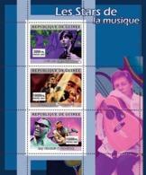 Guinea 2007 MNH - MUSIC: Stars Males. YT 3089-3091, Mi 4917-4919 - Guinea (1958-...)