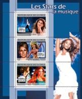 Guinea 2007 MNH - MUSIC: Stars Females. YT 3086-3088, Mi 4923-4925 - Guinea (1958-...)