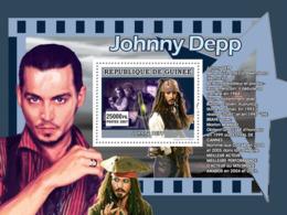 Guinea 2007 MNH - CINEMA: Big Names: Johnny Depp. YT 676, Mi 5020/BL1354 - Guinea (1958-...)