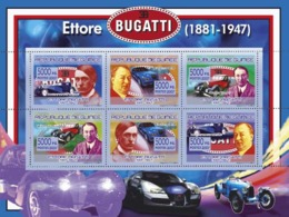 Guinea 2007 MNH - TRANSPORTS-Ettore Bugatti (1881-1947). YT 3155-3160, Mi 5211-5216 - Guinea (1958-...)