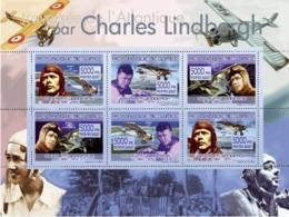 Guinea 2007 MNH -TRANSPORTS-Charles Lindbergh (1902-1974). YT 3191-3196, Mi 5232-5237 - Guinea (1958-...)