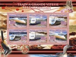 Guinea 2007 MNH -TRANSPORTS-Speed Trains (Shinkansen). YT 3257-3262, Mi 5190-5195 - Guinea (1958-...)