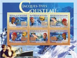Guinea 2007 MNH -TRANSPORTS-Jacques-Yvies Cousteau. YT 3263-3268, Mi 5181-5186 - Guinea (1958-...)