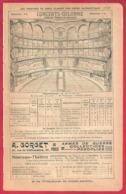 Théâtres De Paris Et Cirques. Concerts Colonne, Nouveau Cirque.. Infos Divers: Plan, Prix Des Places.. Recto-verso. 1901 - Documents Historiques