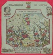Protége Cahier Ancien Fin XIXéme Collection Serie INSTRUCTIVE  Dep De L'INDRE ( Prise De Sainte-Sévére ) - Book Covers